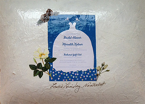 Design on the back of the Wedding Invitation Platter