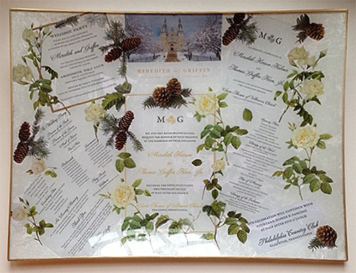 Wedding Invitation Platter