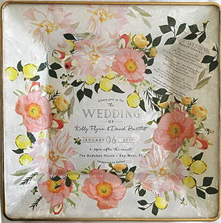 My latest wedding invitation plate