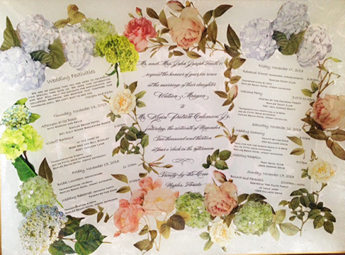 Custom Wedding Invitation Platters